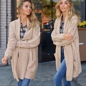 Sweaters - NEW! Cozy Cable Loose Knit Long Cardigan Sweater